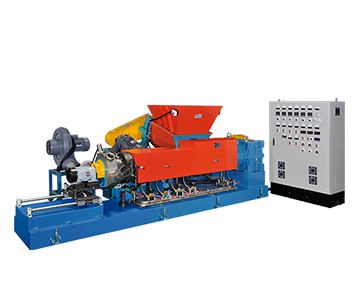 CONTINUOUS MIXER WITH EXTRUSION PELLETIZING LINE